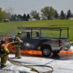 Mt. Joy Rd. Vehicle fire