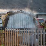 Horn Rd. Shed fire