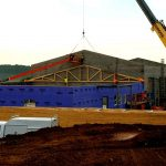 Trusses Being Installed